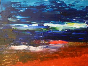 Abstr13, 2015, Acr on Canvas,70x90cm, 28x36in
