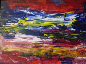 Abstr15, 2015, Acr on Canvas,70x90cm, 28x36in